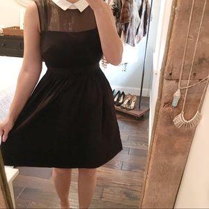 Betsey Johnson fit & flare black Peter Pan dress